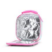 Szkolny lunchbox różowy w ptaszki