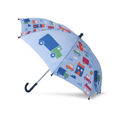 Parasol niebieski w autka
