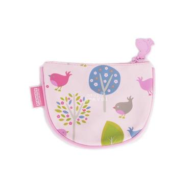 Portmonetka dla dziewczynki różowa w ptaszki