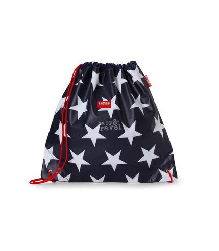 Uniwersalna torba na sznurek granatowa w gwiazdy