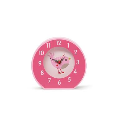 Zegar różowy w ptaszki