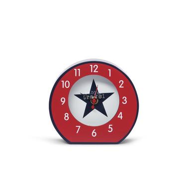 Zegar granatowo-czerwony w gwiazdy