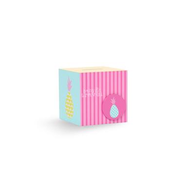 Skarbonka miętowo-różowa ananasy