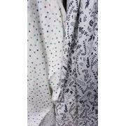 Muślinowo – bambusowa pieluszka Botanic / Dots White