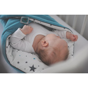 Rożek niemowlęcy 3 w 1 z pieluszką muślinową SZARY
