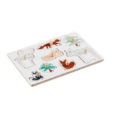 Kids Concept Puzzle Drewniane Zwierzęta