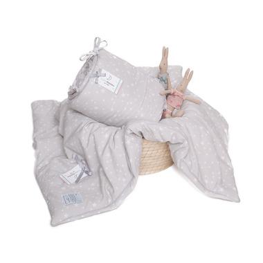 Ochraniacz MilkyWay Grey na całe łóżeczko 70x140