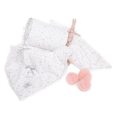 Ochraniacz MilkyWay White na całe łóżeczko 70x140