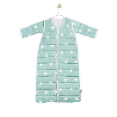 Jollein, Śpiworek do spania z odpinanymi rękawami Miętowy Little star 0-6 miesięcy