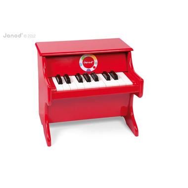 Janod, czerwone pianino Confetti,