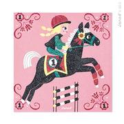 Janod, zestaw artystyczny Magiczny brokat Świat koni,