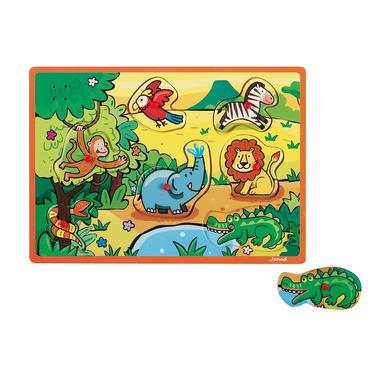 Janod, puzzle z dźwiękami - dżungla -