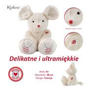 Kaloo, Myszka kość słoniowa duża 38 cm kolekcja Rouge