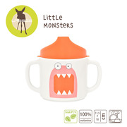 Lassig, Kubek z melaminy Little Monster koral