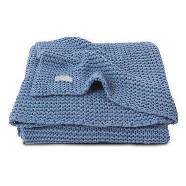 Jollein, Koc Heavy Knit Chłodny błękit 75x100cm