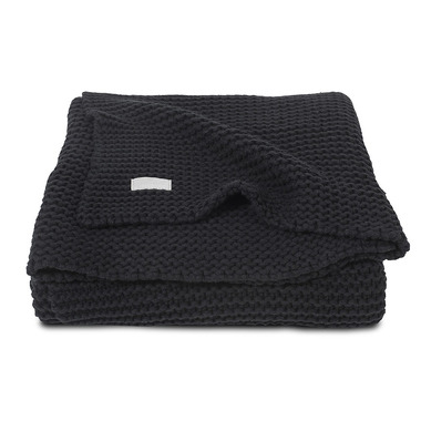 Jollein, Koc Heavy Knit Czarny 75x100cm