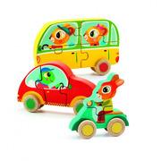 Djeco, Drewniane puzzle samochody - Jako&Co