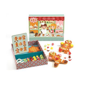 Djeco, drewniany zestaw dekorowanie ciasteczek