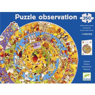 Djeco, Puzzle na okrągło Historia Świata