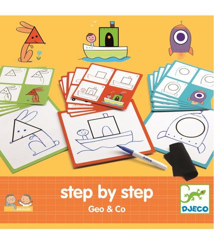 Djeco, Rysowanie krok po kroku GEO & CO