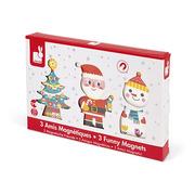Janod, Magnetyczne klocki 3D Święty Mikołaj i przyjaciele