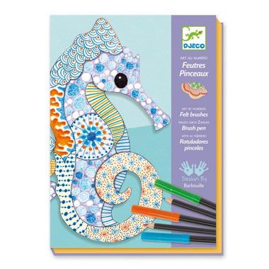 Djeco, Zestaw artystyczny morskie zwierzęta