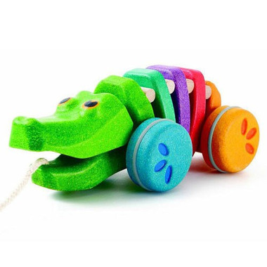 Plan Toys, Tęczowy krokodyl do ciągnięcia