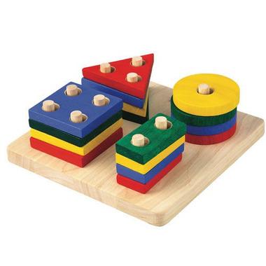 Plan Toys, Plansza z figurami geometrycznymi