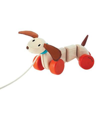 Plan Toys, Szczęśliwy piesek do ciągnięcia