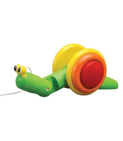 Plan Toys, Drewniany ślimak do ciągnięcia