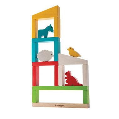 Plan Toys, Zbuduj zoo - układanka drewniana
