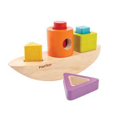 Plan Toys, Sorter w kształcie łódki