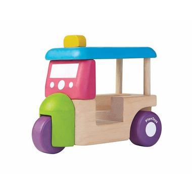 Plan Toys, Mini autko - riksza Tuk Tuk