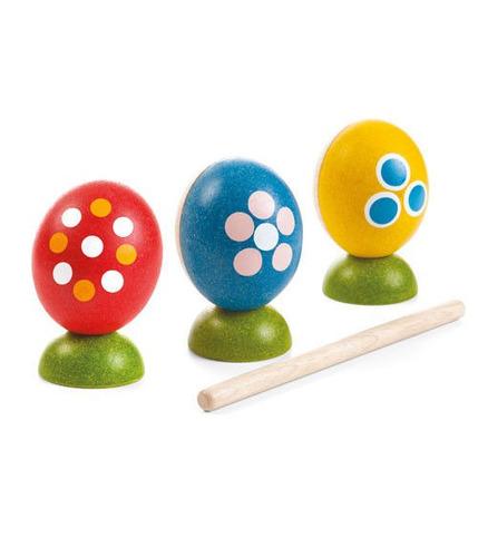 plan toys, Drewniana perkusja jajka