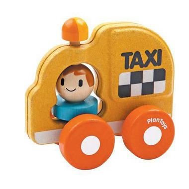 plan toys, Drewniany pojazd taksówka