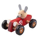 plan toys, Drewniana rajdówka z królikiem