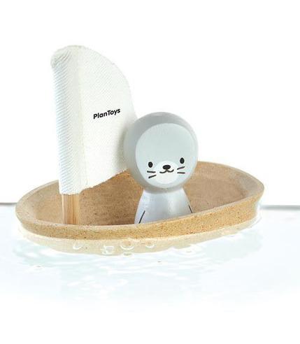 plan toys, Żaglówka z foczką - zabawka do kąpieli