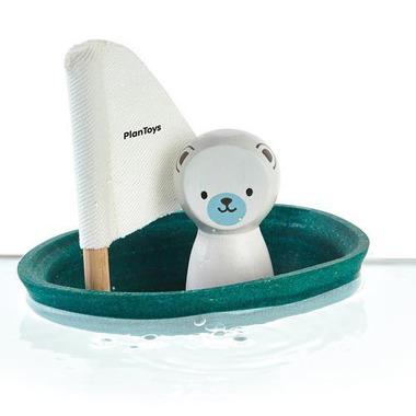 plan toys, Żaglówka z misiem polarnym - zabawka do kąpieli