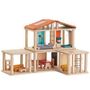 plan toys, Domek dla lalek z mebelkami