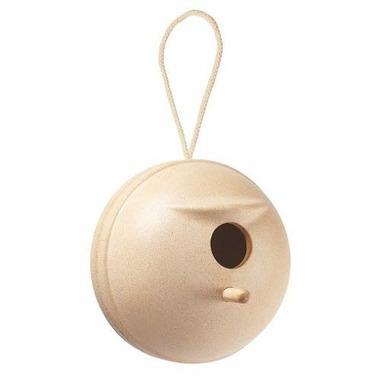 plan toys, Domek dla ptaków, okrągły, kolor naturalny