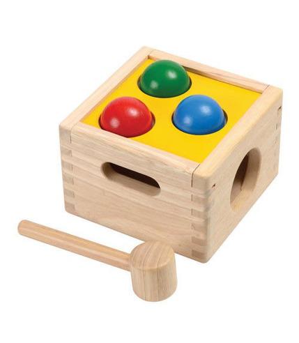 plan toys, Drewniana skrzynia z kulkami