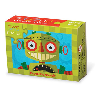 Crocodile Creek, Dwustronne puzzle, motyw robot