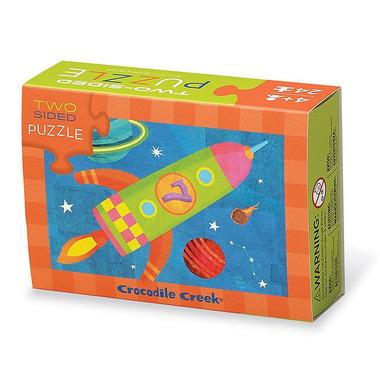 Crocodile Creek, Dwustronne puzzle, motyw rakieta