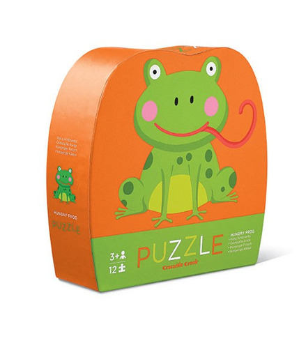 Crocodile Creek, Puzzle 12 elementów, Głodna żaba