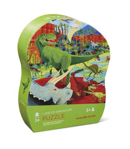 Crocodile Creek, Puzzle 24 elementy, Ziemia dinozaurów
