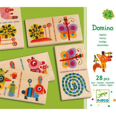 Djeco, drewniane Domino ze Zwierzątkami