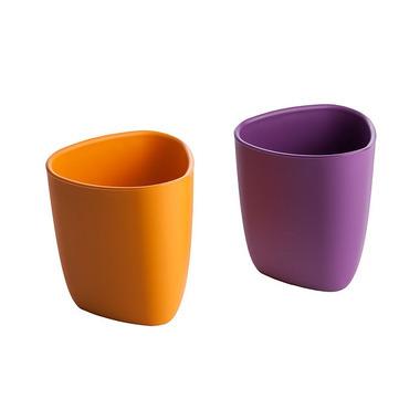 Kubeczki 2 szt - 100% BIOplastik pomarańczowy i fioletowy