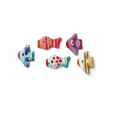 Lilliputiens, Zabawki do wody Rybki pacynki z Neoprenu