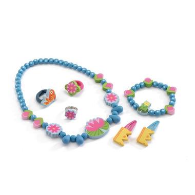 Djeco, zestaw biżuterii drewnianej Wodne lilie