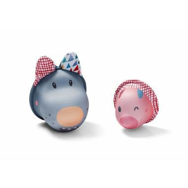 Lilliputiens, Zabawki do wody Wilk Nicolas i świnka z Neoprenu Bath Bubbles